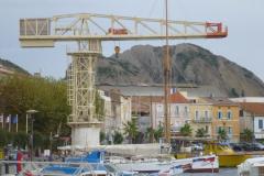 Kunstwerk im Hafen von La Ciotat