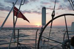 Unterwegs nach Korsika unter Winfahnensteuerung