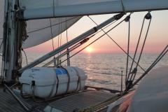 Sonnenuntergang unterwegs im Golf du Lion